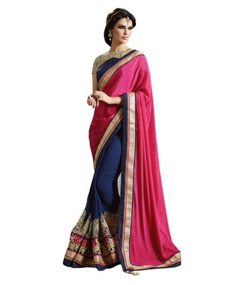 Bollywood Designer Sari Multicoloured Georgette Saree
