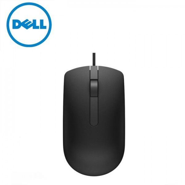 Dell MS116 USB Wired Optical Mouse (Black)