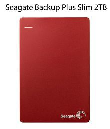 Seagate 2 TB Backup Plus Slim Portable External Hard Drive with 2 Months Free Adobe Creative Cloud Photography Plan (Red)