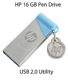 HP V215B 16GB USB 2.0 Utility Pendrive Silver