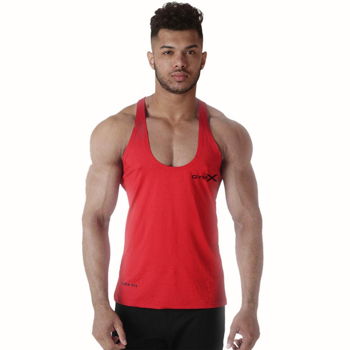 Mens Polyester Axiom Stringer- Crimson Red Sando