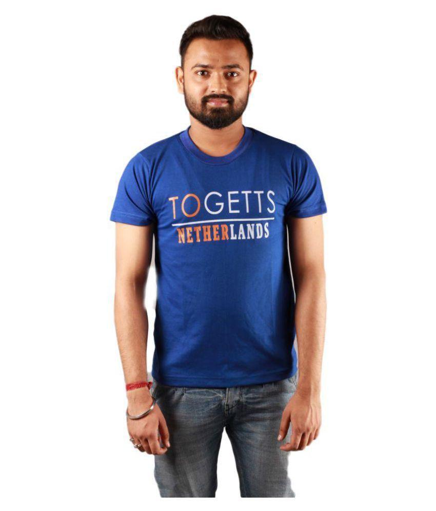 get set fashion Blue Half Sleeve T-Shirt