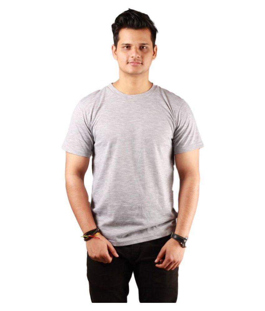 get set fashion Grey Half Sleeve T-Shirt