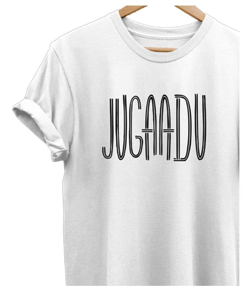 Koutons White Half Sleeve T-Shirt