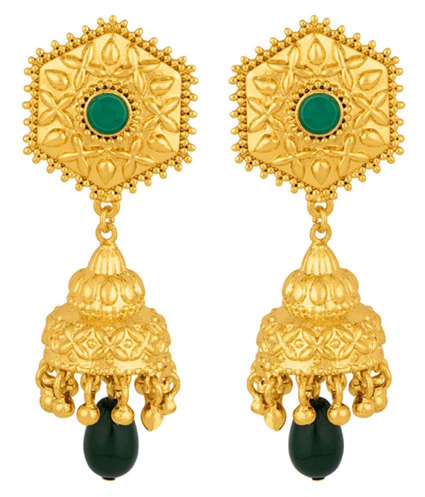 Voylla Jhankar Ethnic Gold Plated Earrings