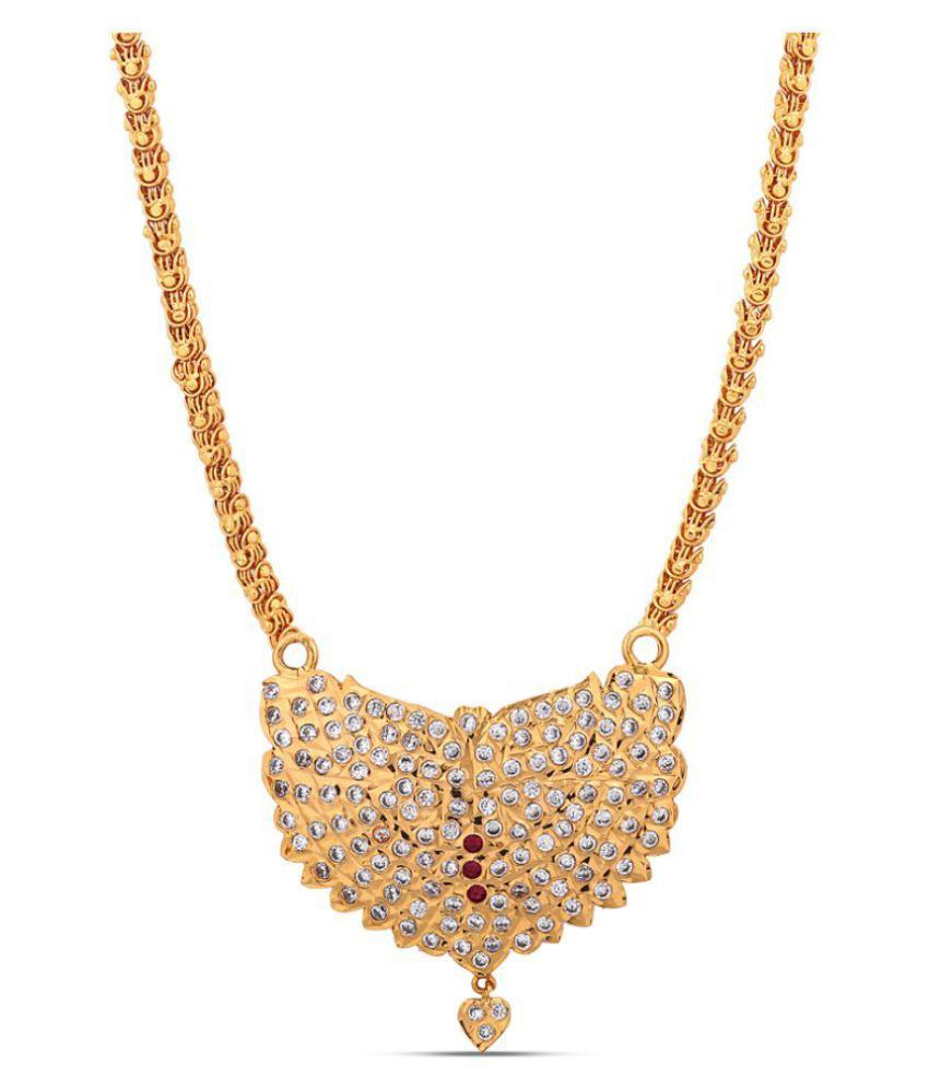 Jewlot Brass Multi Color Collar Traditional Gold Plated Necklace