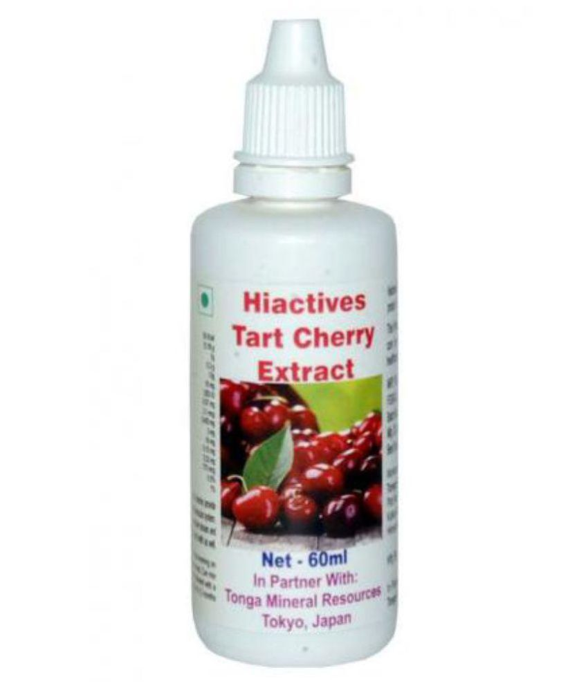 Tonga Herbs Hiactives Tart Cherry Extract Drops (Buy Any Supplement Get The Same 60ml Drops Free) 60 ml Minerals Syrup