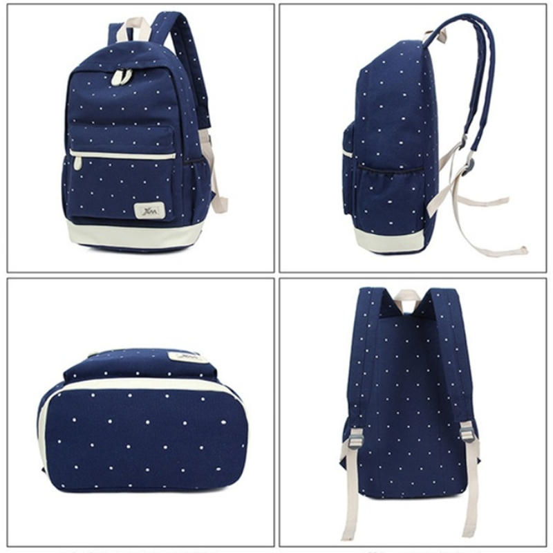 ... Canvas Girl School Bags For Teenagers Backpack Women Three Piece Suit  Shoulder Bags 3 Pcs  ... 0fe4d68964cb6