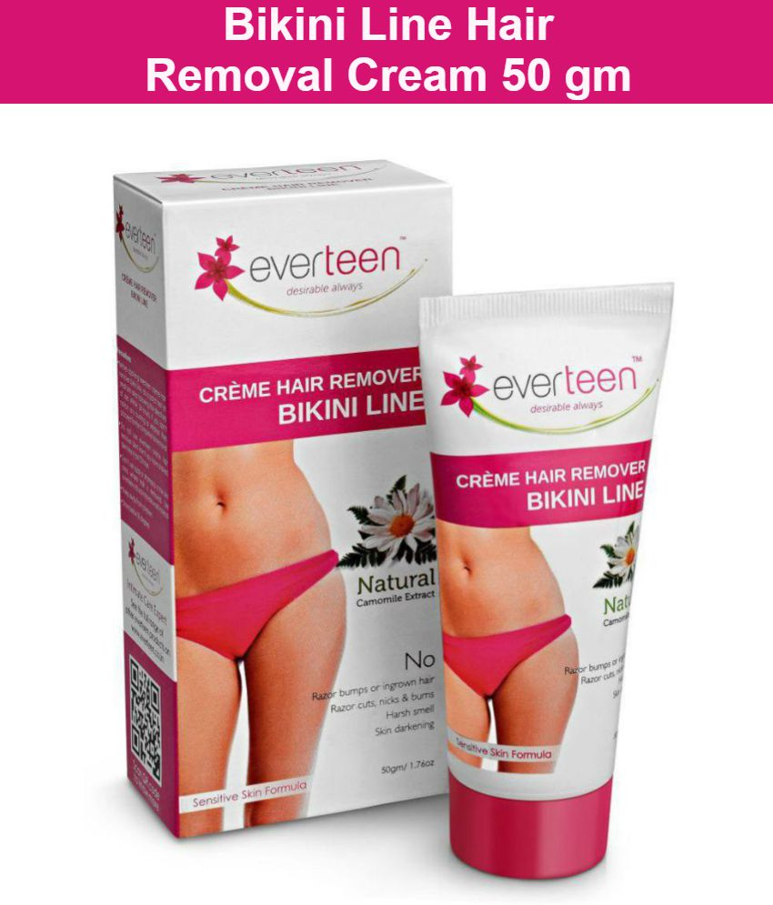 everteen Hair Removal Creme Bikini Line for Sensitive Parts in Women - 1 Pack (50g)