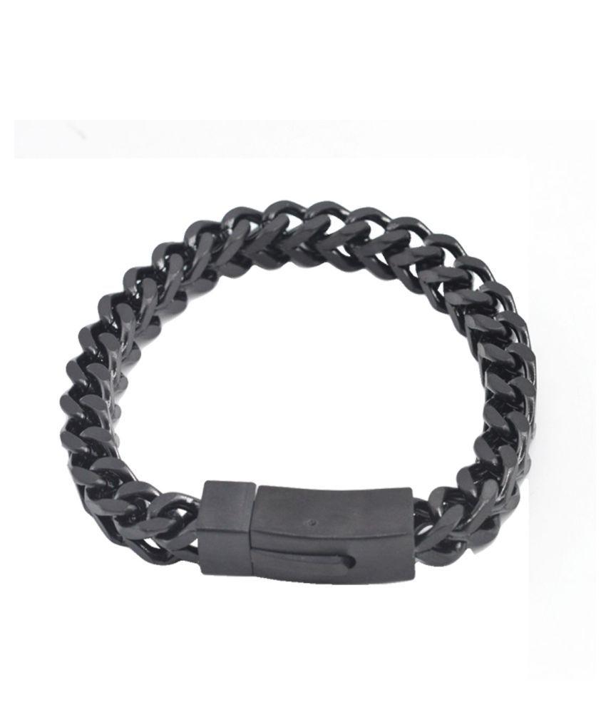Sullery Black Stainless Steel Bracelets