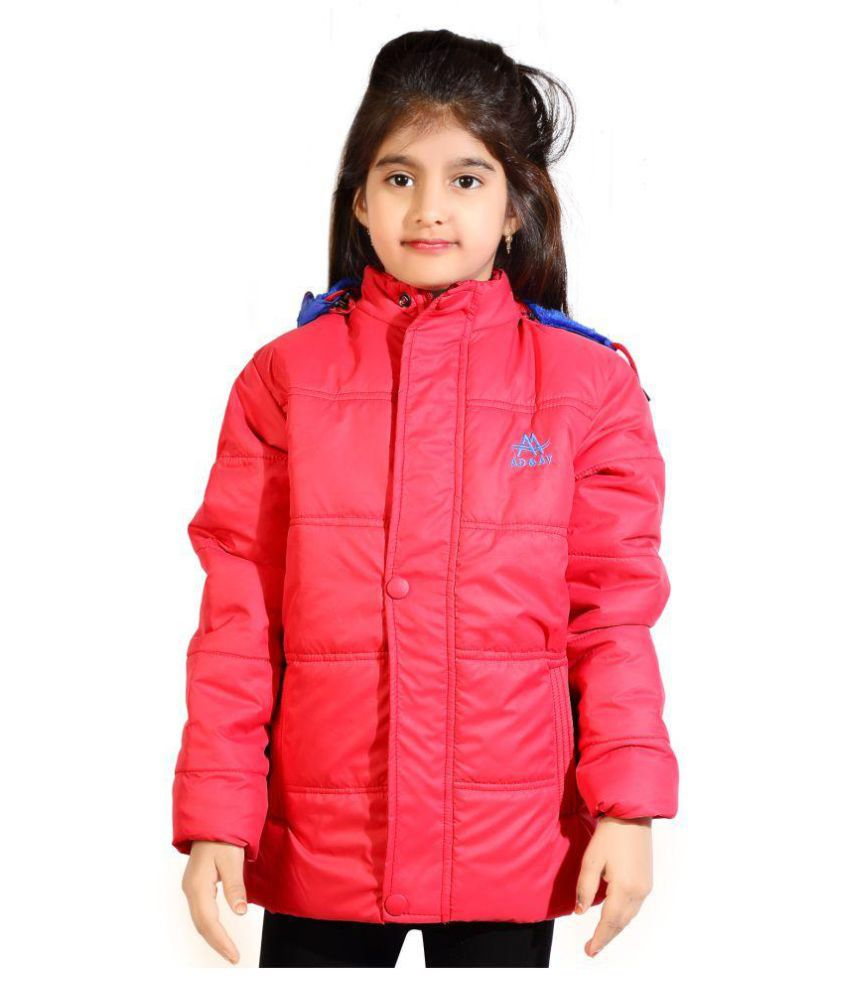 AD & AV GIRLS SOLID CASUAL SOLID QUILTED JACKET