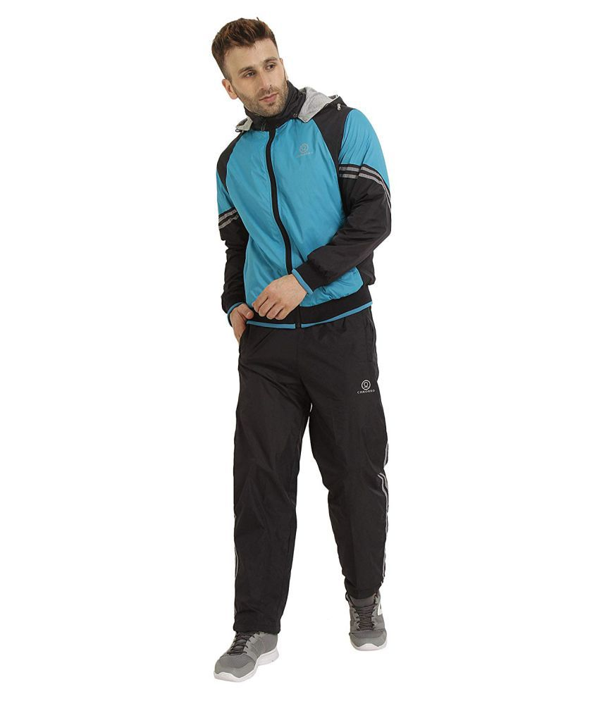 CHKOKKO Men's Hooded Full Zipper Reversible Tracksuit for Athletics Jogging Gym and Sports