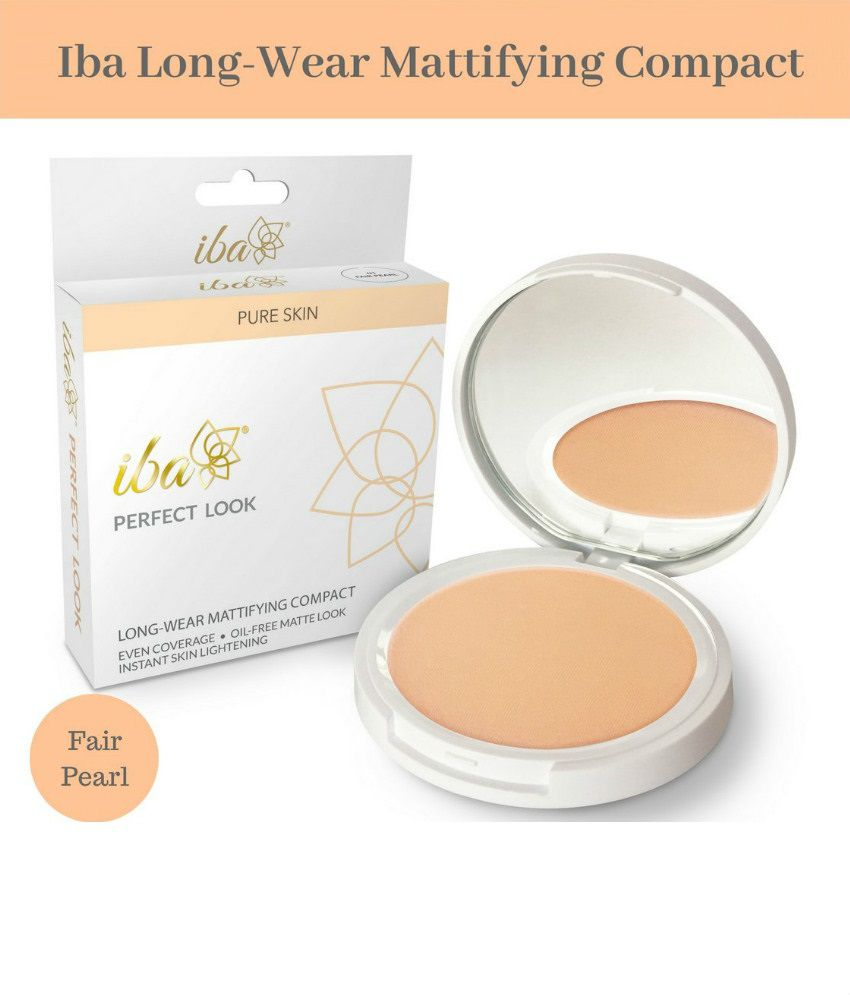 Iba Halal Perfect Look Long-Wear Mattifying Pressed Powder 01 Fair Pearl SPF 15 9 gm