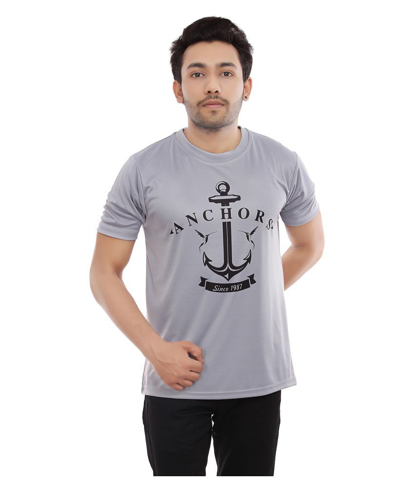 Triumph Grey Half Sleeve T-Shirt