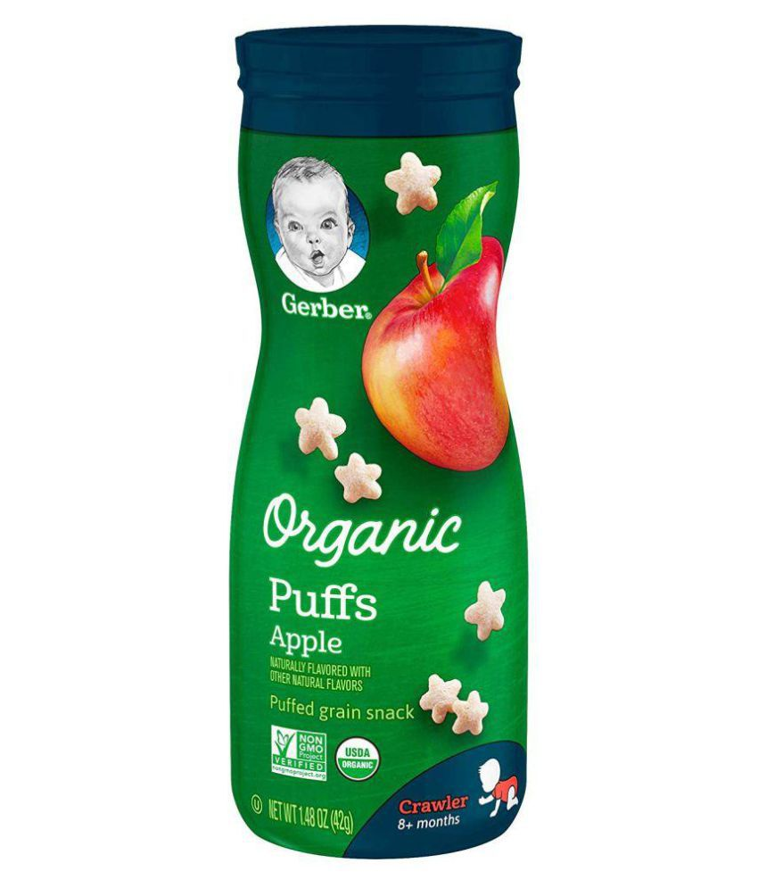 Gerber Apple Snack Foods for 6 Months + ( 42 gm )