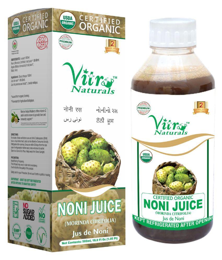 Vitro Naturals Certified Organic Noni Juice Liquid 500 ml Pack Of 1