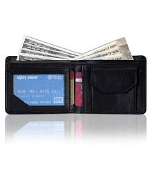 Forest Land Leather Black Formal Regular Wallet