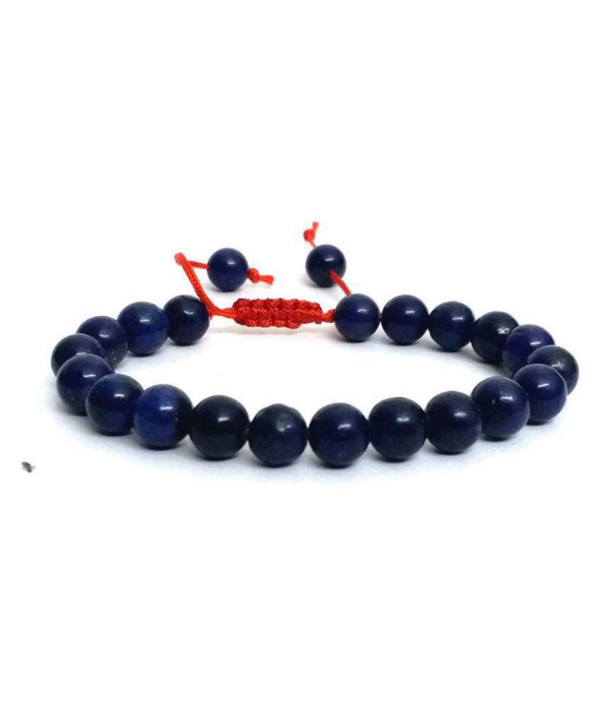 Lapis Lazuli Crystal 8 MM Adjustable Bracelet