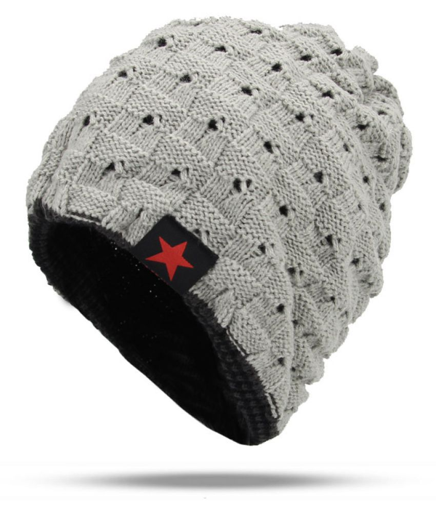 c6d90c6659c Men s Winter Hat Fashion Knitted Black hats Fall Hat Thick And Warm And  Bonnet Skullies Beanie Soft Knitted Beanies Cotton - Buy Online   Rs.