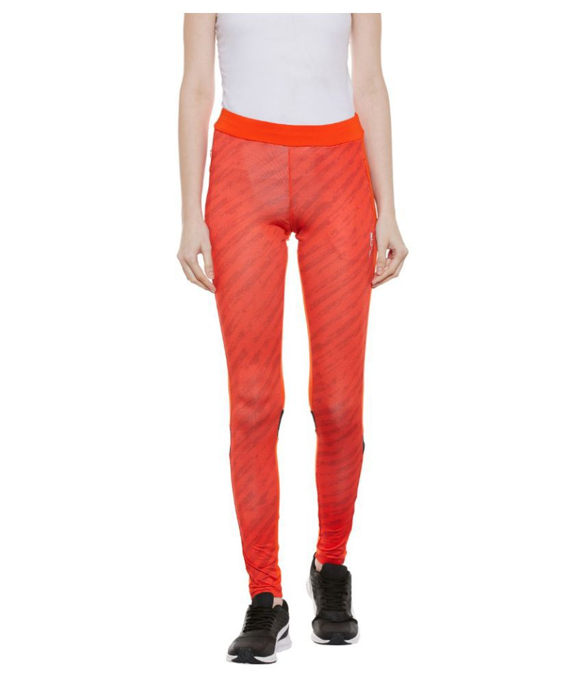 Alcis Polyester Blend Tights - Orange