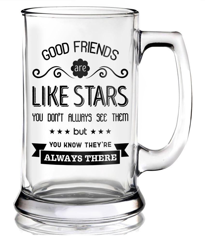 Ramposh Glass 360 ml Beer Glasses & Mugs