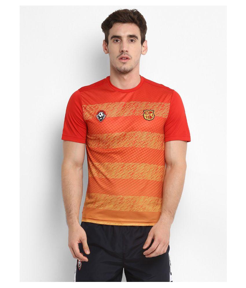 Alcis Orange Polyester T-Shirt Single Pack