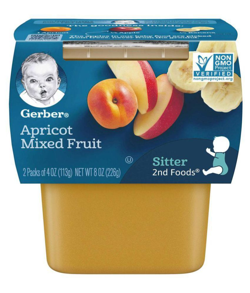 Gerber Apricot with Mixed Fruit Snack Foods for 6 Months + ( 226 gm )