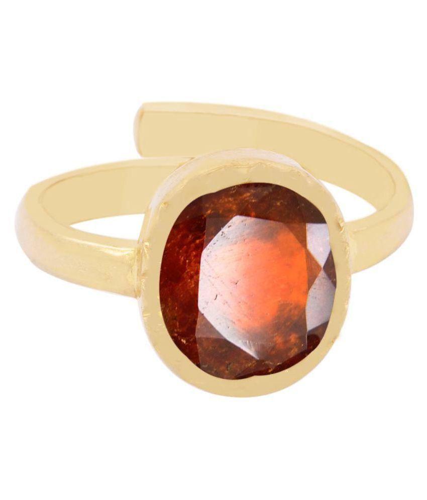 Gems Jewels Online Panch Dhatu Panch Dhatu Garnet Ring
