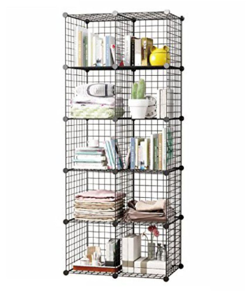 house of quirk diy closet cabinet metal wire storage cubes organizer rh snapdeal com