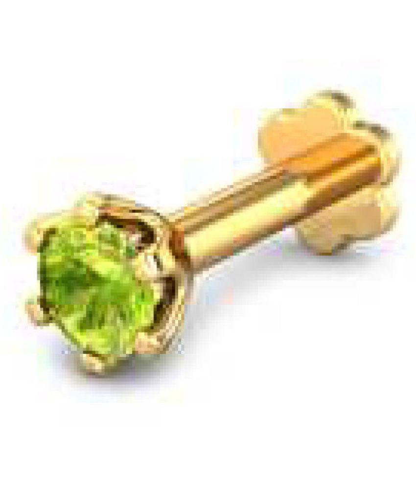 7080b2d31fdeca Jaipur Gemstone 10k Gold Single Stone Nose Pins: Buy Jaipur Gemstone ...