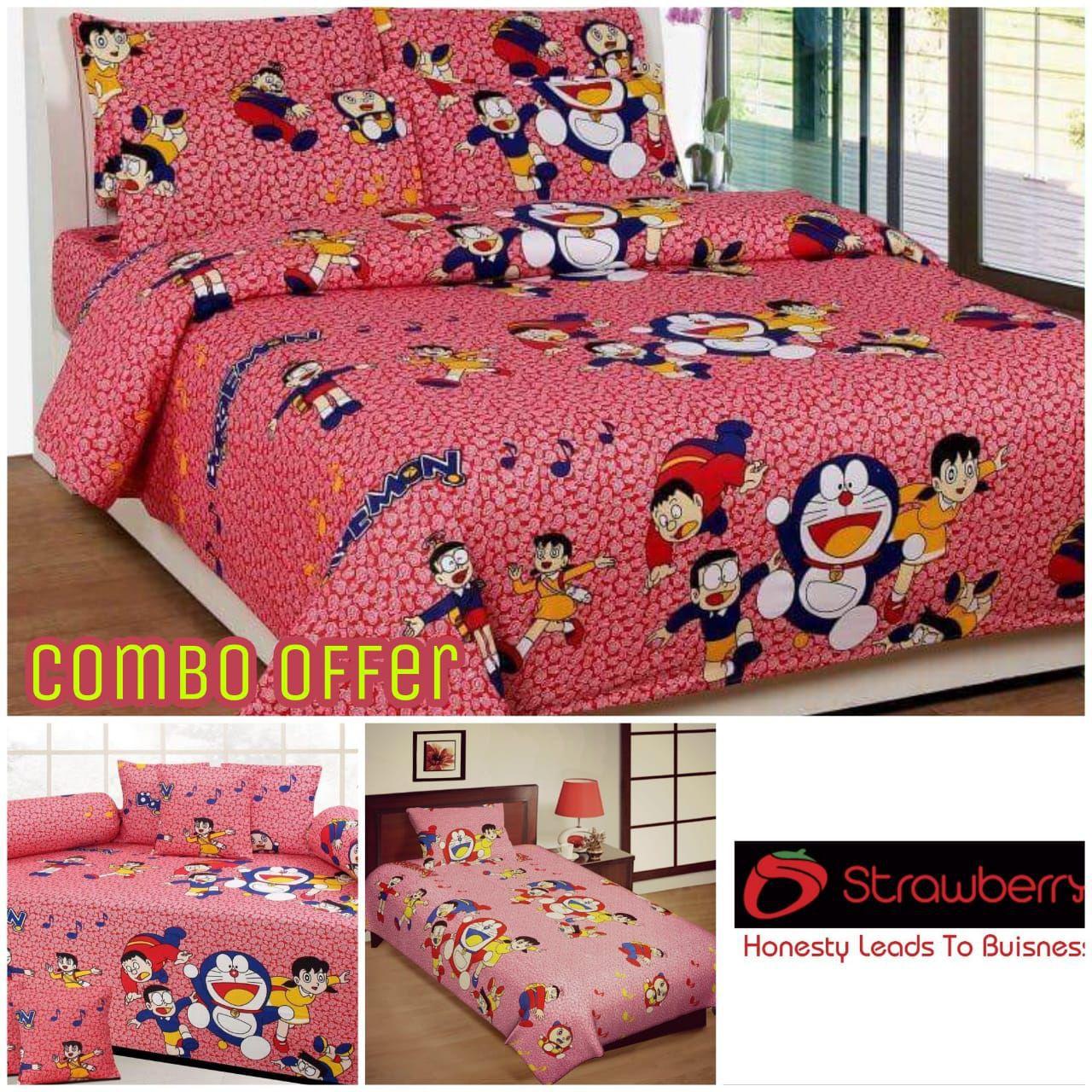 Laying Style Cotton Multi Floral Diwan Set 8 Pcs