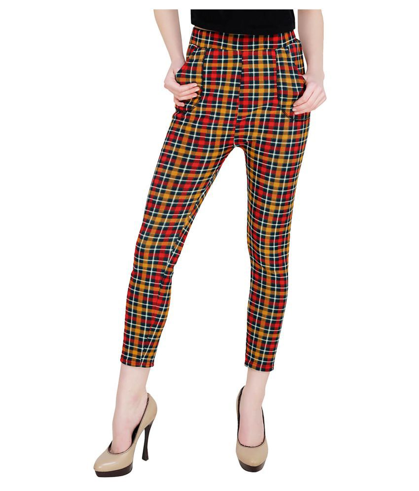 Baluchi Poly Cotton Jeggings - Multi Color