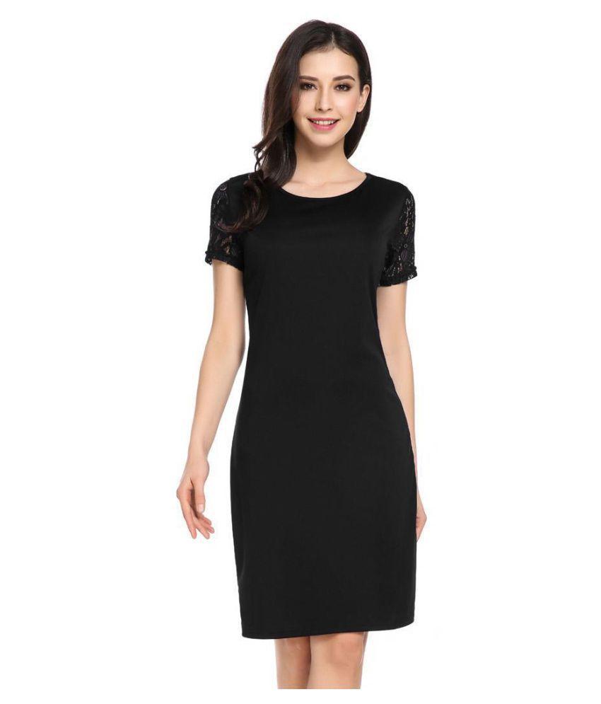 620c7e75e184e Women's Short Sleeve Keyhole Lace Patchwork Party Sheath Dress - Buy ...