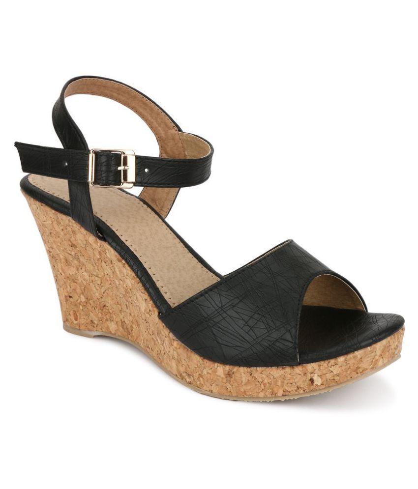 SHOFIEE Brown Wedges Heels