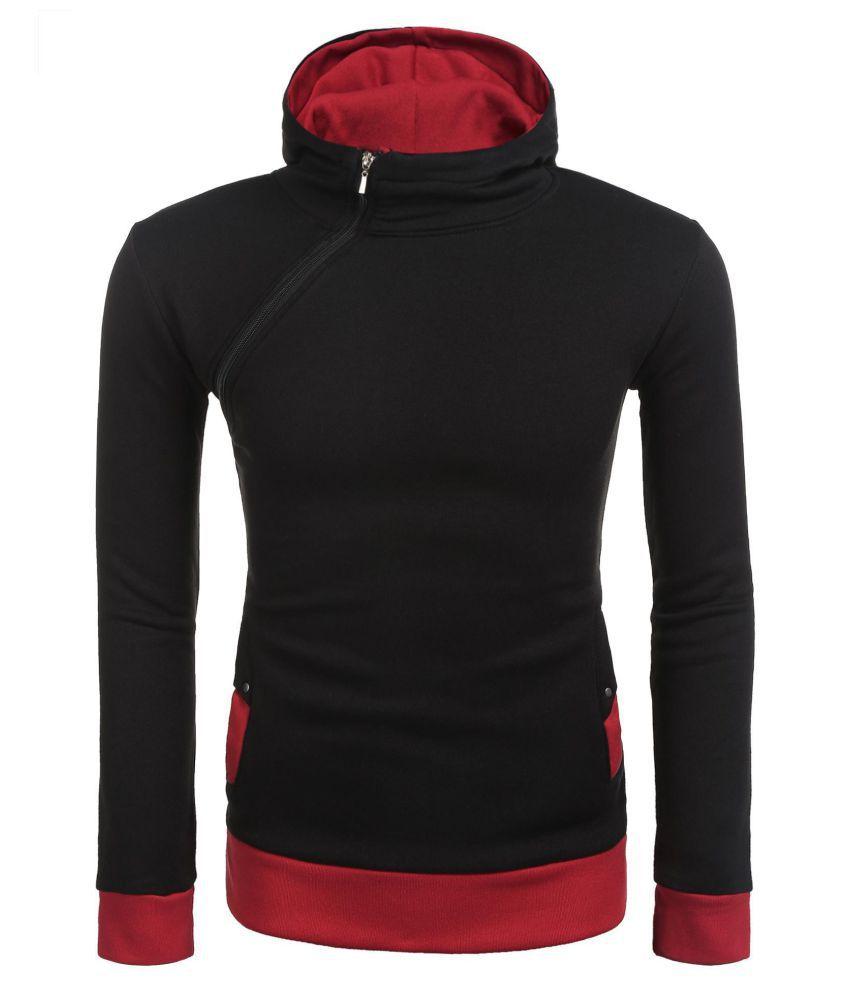 Zipper hooded hoodie