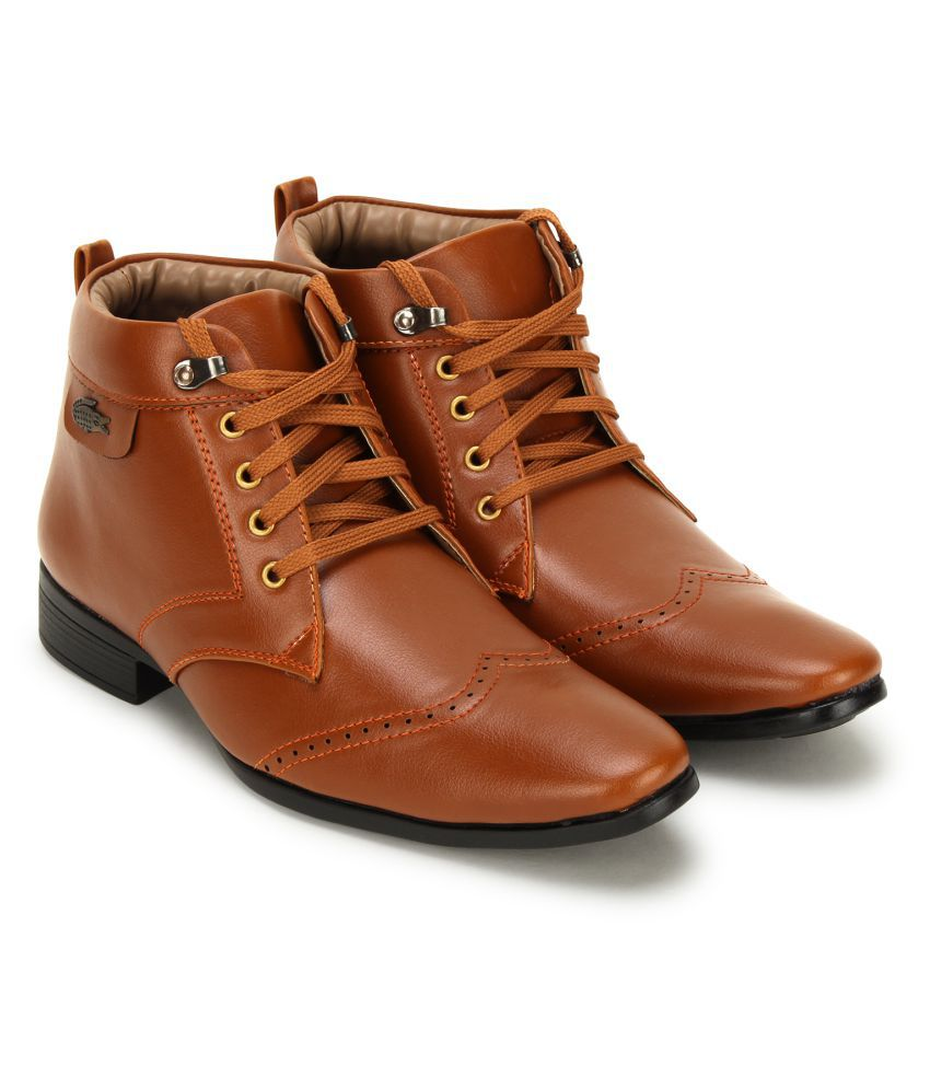 Crown Sapphire Tan Formal Boot