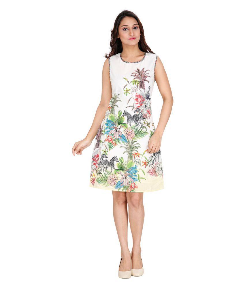 Ritu Designs Cotton White A- line Dress