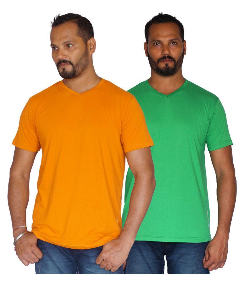 SKOR-NX Multi Half Sleeve T-Shirt Pack of 2