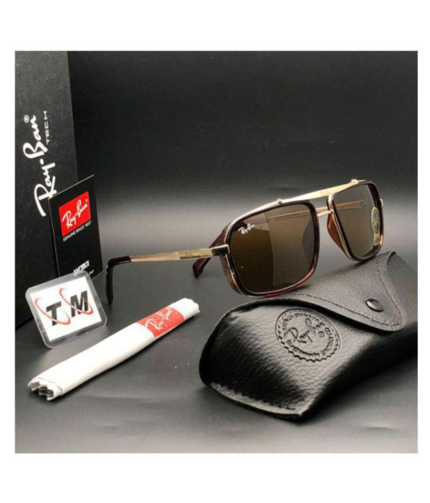 4b51c1952a Ray Ban Avaitor Brown Rectangle Sunglasses ( 4413 ) - Buy Ray Ban ...