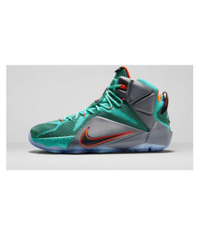 Nike lebron 12 Green Basketball Shoes