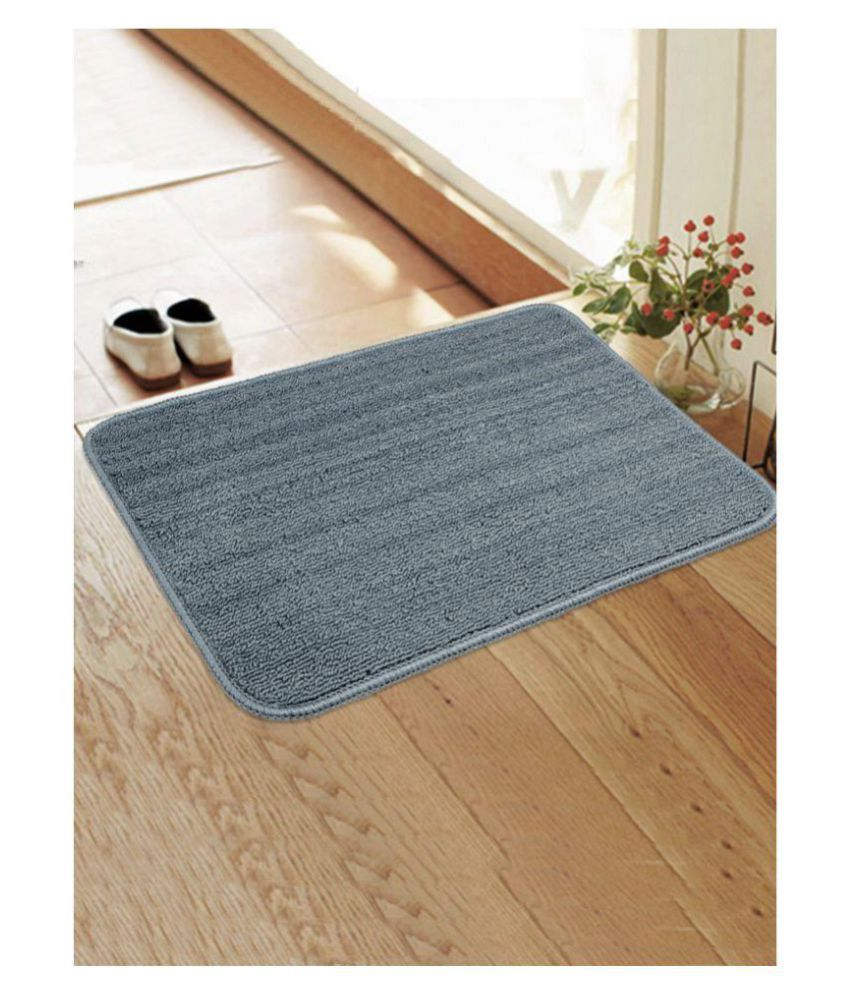 Saral Home Blue Single Anti-skid Floor Mat