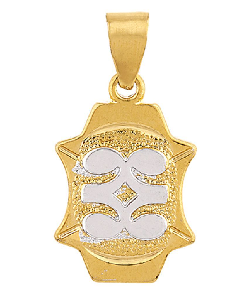 Dare by Voylla Royal Two Tone Plated Pendant