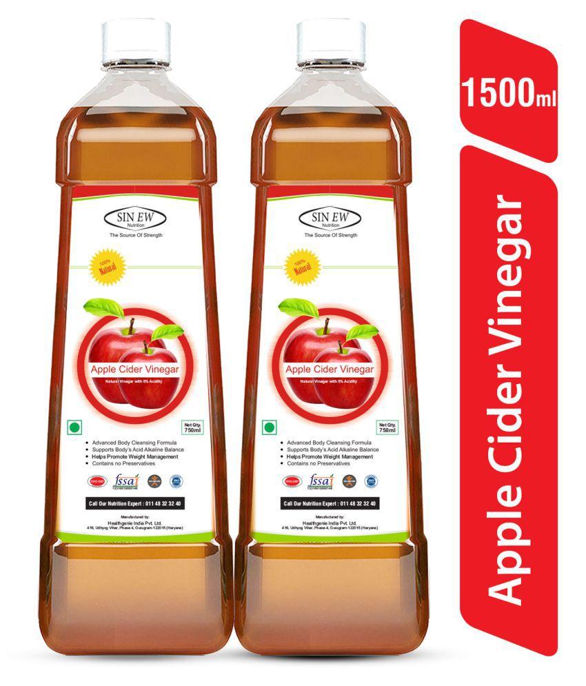 Sinew Nutrition Apple Cider Vinegar Without Mother (Filtered) 750 ml Pack of 2