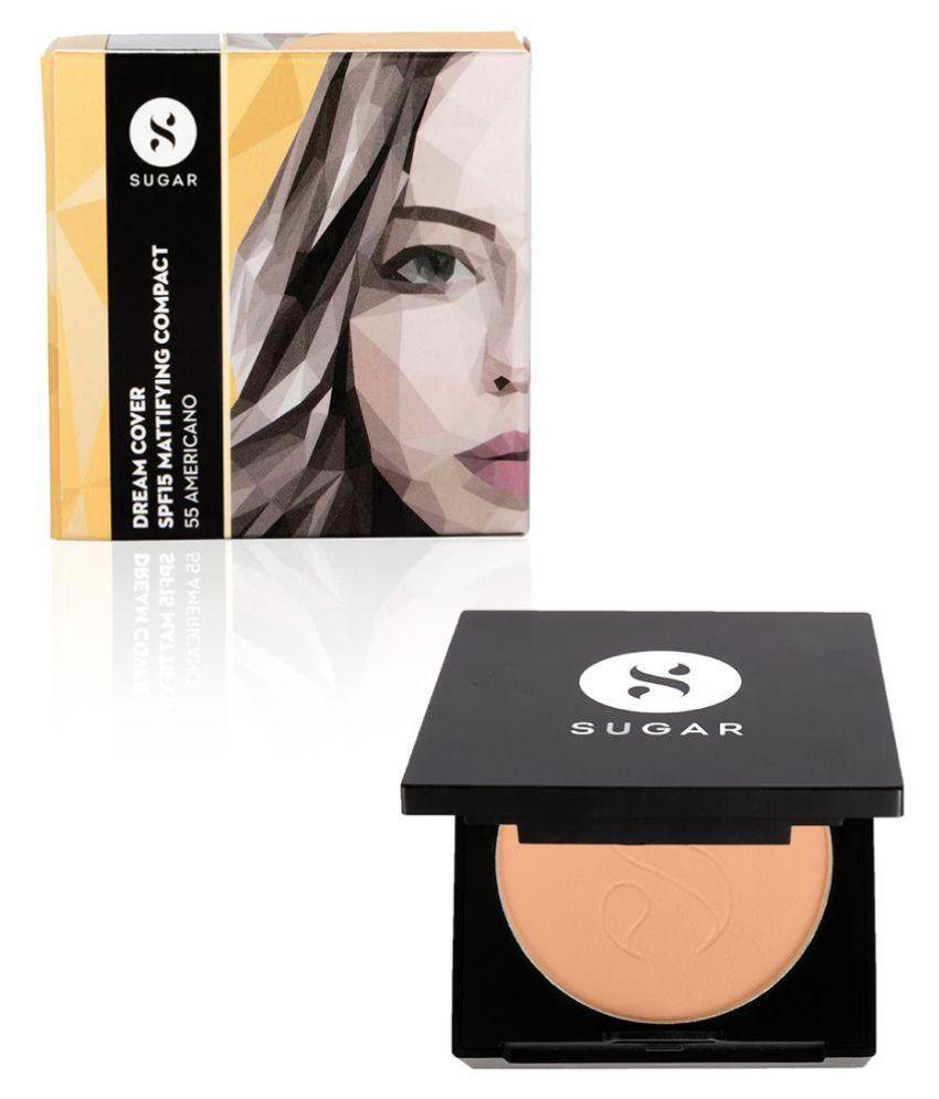 Sugar Cosmetics Dream Cover SPF15 Mattifying Pressed Powder Compact 55 Americano 6 gm