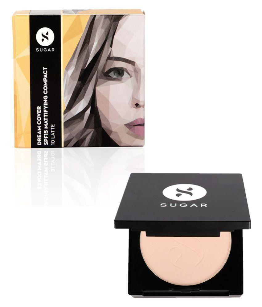 Sugar Cosmetics Dream Cover SPF15 Mattifying Pressed Powder Compact - 10 Latte SPF 15 g