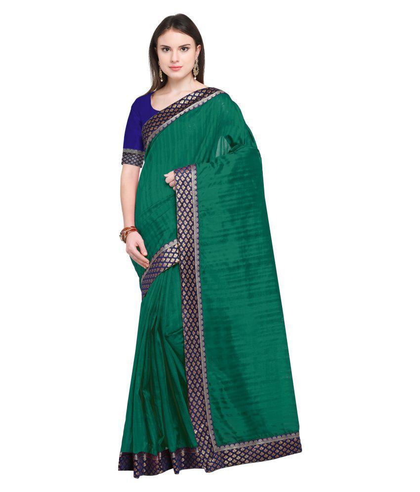Today Deal Green Bhagalpuri Silk Saree