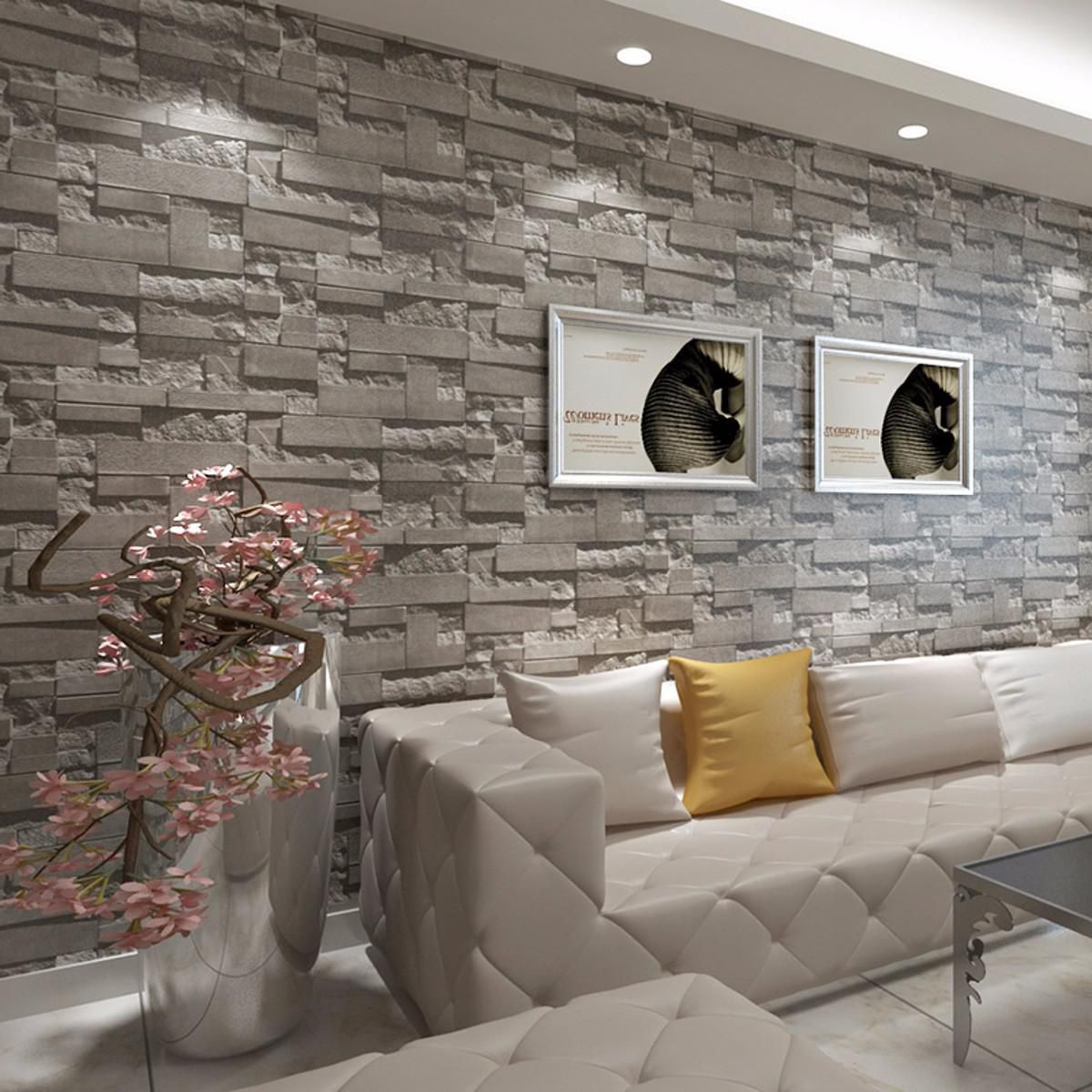 3d Brick Wallpaper Wall Paper Bedroom Living Room Background Mural Tv Decor 10m Buy 3d Brick Wallpaper Wall Paper Bedroom Living Room Background Mural Tv Decor 10m At Best Price In India