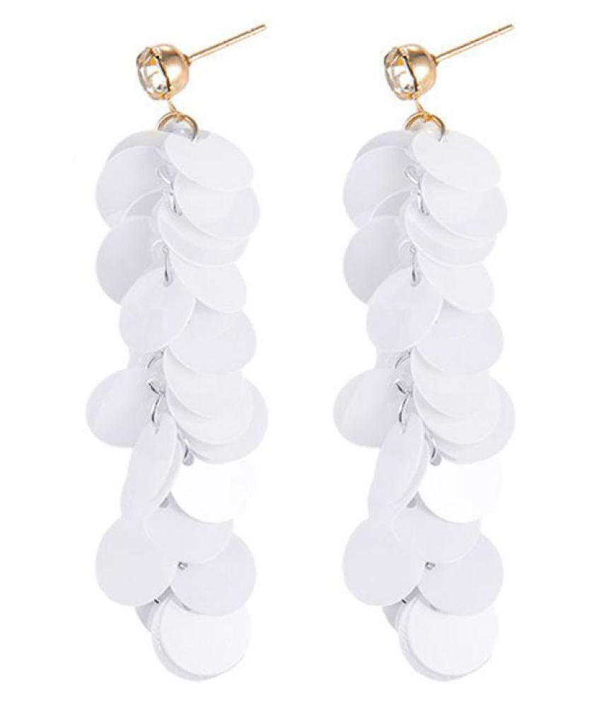 Multilayer Sequins Long Tassel Earrings Women Fashion Party Club Jewelry Charms