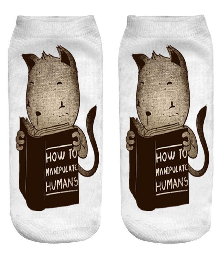 1Pairs 3D Print Cute Socks Low Cut Ankle Boat Sock 6 Styles Women Men Kids Hi-Q