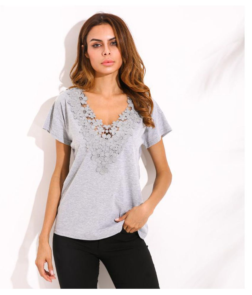 Celmia Short Sleeve Low Cut Sexy V Neck Pullover Blouse Summer Female Lace Crochet Hollow Out Blusas Casual Leisure Solid Shirt